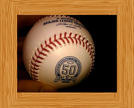 The Angels 50th Anniversary Logo Baseball