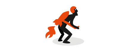 Orange Jetpack Logo