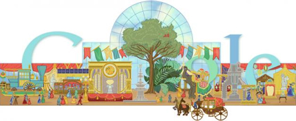 160th anniversary World's Fair Google Logo