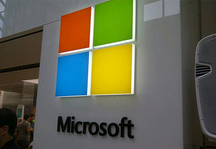 microsoft new logo redesign display