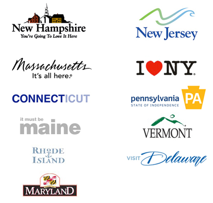 Northeast States Tourism Logos